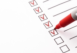 checklist-with-red-markers